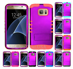 low priced e4b46 76ade Details about KoolKase Hybrid Silicone Cover Case for Samsung Galaxy S7  Edge - Purple (R)