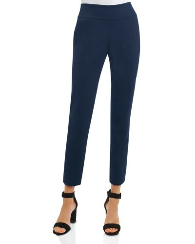 On Foxcroft Pull Mallory Blu 191536124022 Reversible Taglia Xl scuro nero Pants Stretch Ponte wwSEr