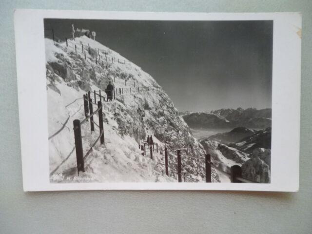Ansichtskarte Aufstieg zum Wendelsteingipfel 1936