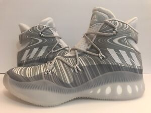 Adidas Crazy Explosive Boost B42424 Basketball White/Gray Sz 14.5 15