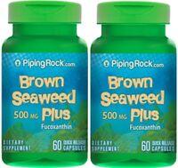 Brown Seaweed Plus (wakame) 500 Mg Dietary Supplement 120 Capsules - 2 Bottles