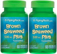 Brown Seaweed Plus (wakame) 500 Mg Dietary Supplement 120 Capsules - 2 Bottles