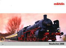 CATALOGUE MÄRKLIN TOUTE LES NOUVEAUTÉS 2008 EN HO, Z ET 1