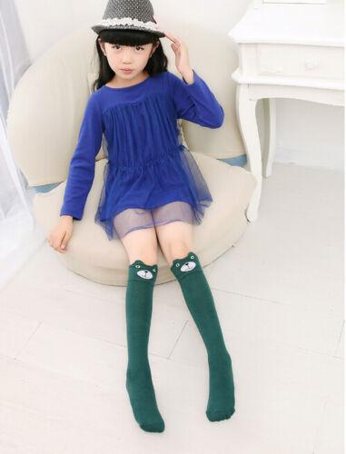 Baby Kids Toddler Girls Knee High Socks Tights Leg Warmer Stockings For Age 3-12
