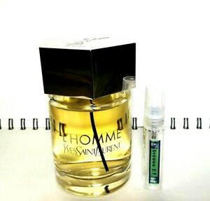 YVES-SAINT-LAURENT-L-039-HOMME-5ml-Glass-Decant-Atomizer-SAMPLE
