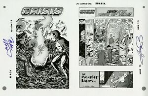 Crisis-on-Infinite-Earths-10-Cover-pg1-RARE-Production-Art-SIGNED-PEREZ-WOLFMAN