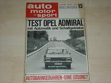 59505) Opel Admiral - Austin Cooper S 1300 - AMS 13/1966