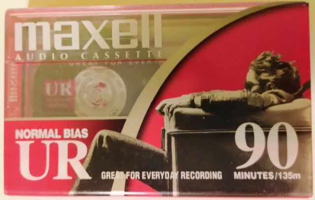 Maxell UR 90 - Brand New Sealed Blank Audio Cassette Tape