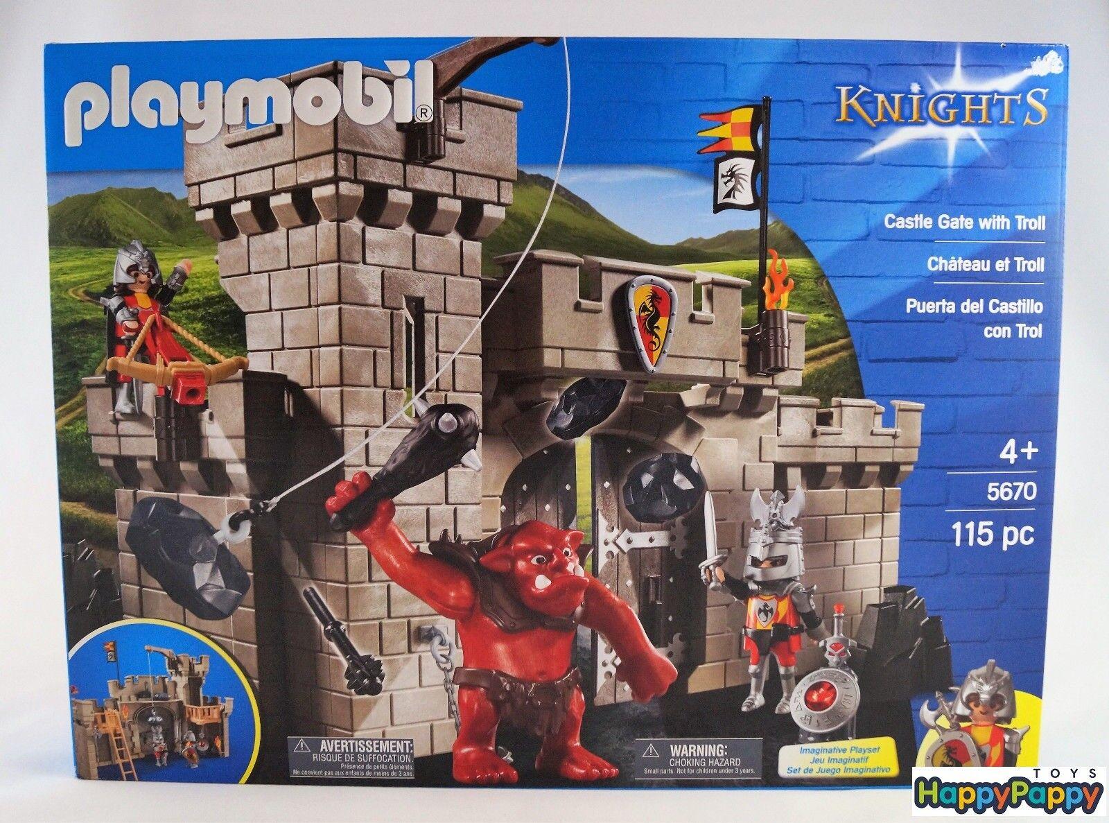 Playmobil Knights 5670 Burgtor mit Riesentroll Neuware   New