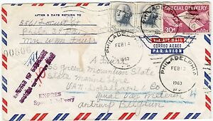 Overseas-Letter-USA-Belgiern-Returned-Back-Spcial-Delivery-30-Cents-A814