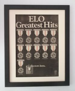 ELO-Greatest-Hits-1979-ORIGINAL-POSTER-AD-QUALITY-FRAMED-FAST-WORLD-SHIP
