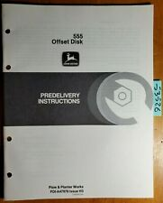 John Deere 555 Offset Disk Predelivery Instructions Manual Pdi A47978 H3