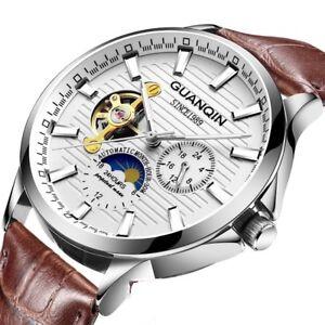 Men-Wrist-Watch-Automatic-Waterproof-Stainless-Steel-Sport-Dial-Leather-Luminous