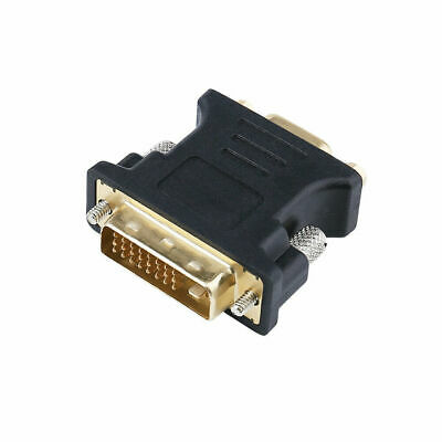 Tanbin DVI VGA Adapter DVI-I 24+1 Male to VGA HD15 Female Adapter with Signal Amplifier Gold Plated Supports 1080P Full HD for Computer PC Host Laptop LG HP Dell Monitor and Projector