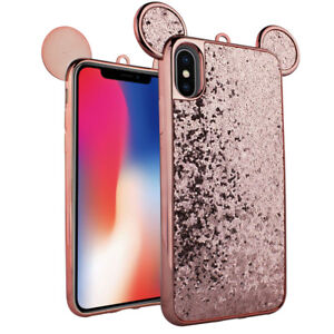 Image Is Loading For IPhone X Rose Gold Shiny Metallic Mouse