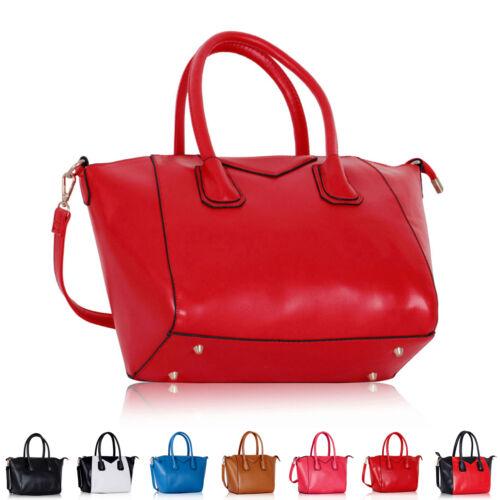 New Womens Faux Leather Designer Ladies Shoulder Bag Cross Body Handbag Tote UK