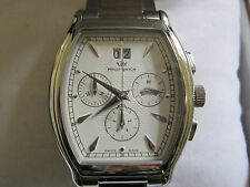 PHILIP mans chronograph big date stainless steel watch.    bx 041