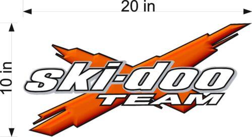 """ORANGE 20/"""" Vinyl Vehicle Decal Snowmobile Sticker SKI-DOO Team 3DX"""