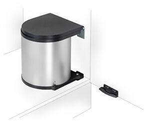 Details zu WESCO Einbau Abfallsammler 15 L rund silber Mülleimer Küche  Schwenkeimer
