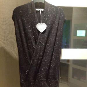 12 Demoiselle Maille Party Black Sparkly abito Taglia sera da RBT7A1q