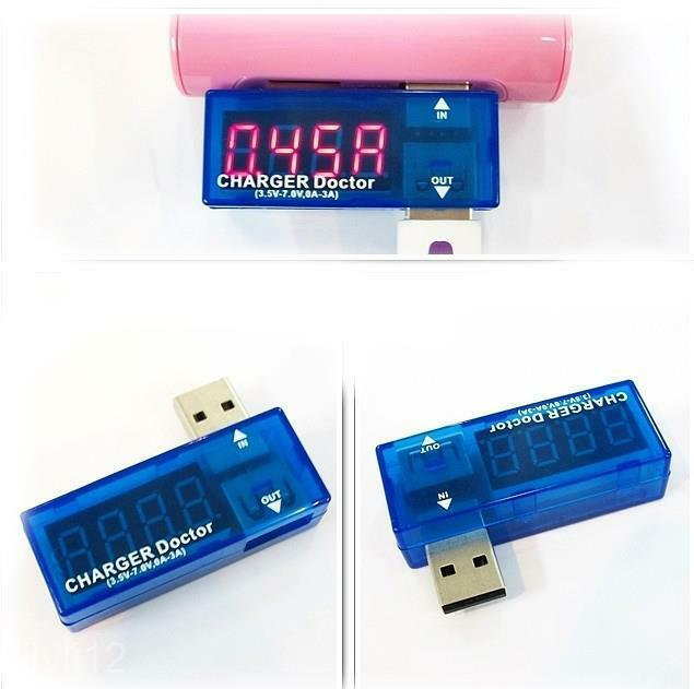 USB Voltage Current Meter Tester Charger Doctor Checker For Power Bank CellPhone