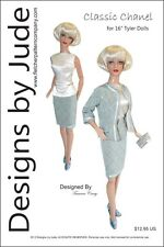 """Classic Chanel Suit Doll Clothes Sewing Pattern for 16"""" Tyler DollsTonner"""