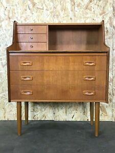 60er-70er-Jahre-Teak-Sekretaer-Kommode-Danish-Modern-Desk-Design-Denmark-60s-70s