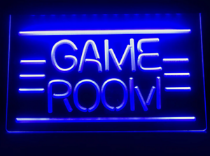 Game Room Sign Neon LED Various Colours Advertising Man Cave Game Room