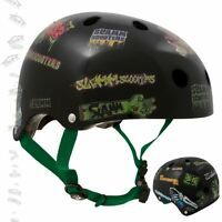 Slamm Pro Stunt Scooter Sticker Helmet Black - Free Stickers & Fast Shipping
