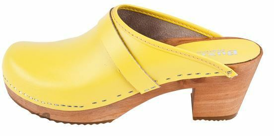 Wooden  leather clogs  OS1   jaune Couleur US chaussures Taille  (femmes)