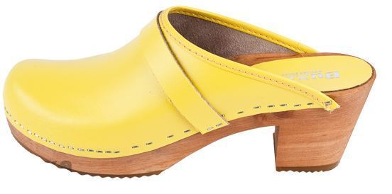Wooden  leather clogs Yellow  OS1   Yellow clogs color US Shoe Size  (Women) bcb4d7