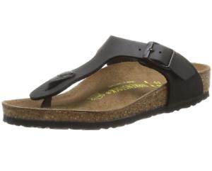 Birkenstock-Gizeh-Birko-Flor-Nubuck-Regular-Fit-Unisex-Sandal-Black
