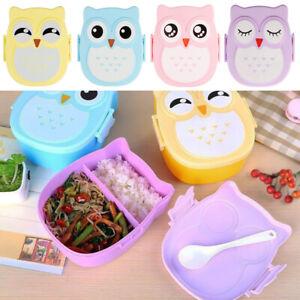 Eulen-Gesundheit-Mittagessen-Kasten-Kinder-Brotdose-Sandwichbox-Lunch-Bento-Box