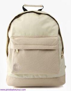 dos beige à scolaire sac Mi Sac satinée à dos Pac Maille vxqUXBI