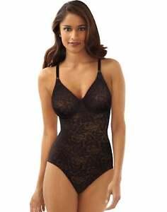 Bali Lace 'N Smooth Body Briefer Shaper UW Cups Sheer Firm Power Wear Women 8L10