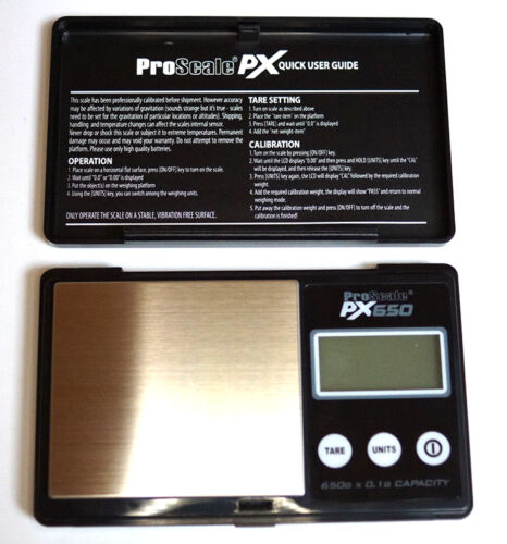 Digitalwaage Feinwaage 650 x 0,1g Proscale PX650 Taschenwaage Münzwaage Waage