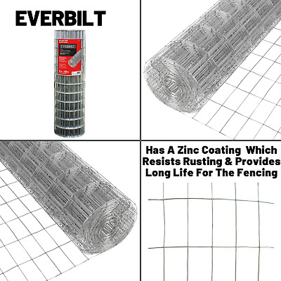Everbilt Welded Wire Fencing 5 ft x 100 ft 14-Gauge Galvanized