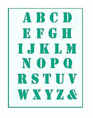 ABC Schriftschablonen ● 1,5cm hoch ● Set 30 Schablonen Nr.35 Buchstaben