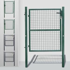 100-125-160-cm-Gartentor-Zauntor-Gartentuer-Metall-Gartenpforte-Maschendraht