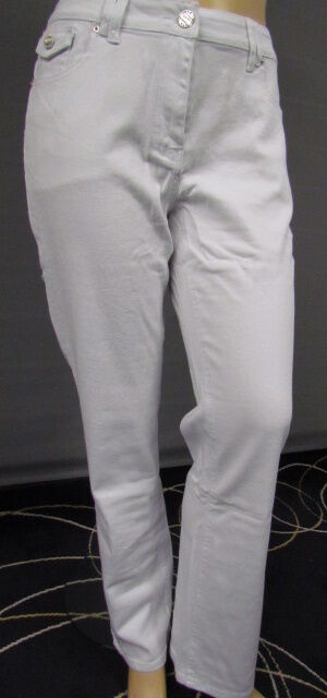 New Sexy Women's Denim Classic Jeans Trousers White Stretch Straight Tall Size