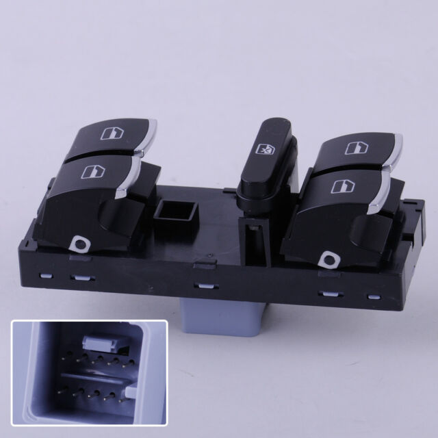3C8959857 Fensterheberschalter Für VW Golf Passat Jetta Tiguan Seat Altea Leon