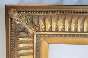 BIG VINTAGE Fits 16X 20 Gold Gilt Picture Frame Wood Gesso Fine Art ORNATE