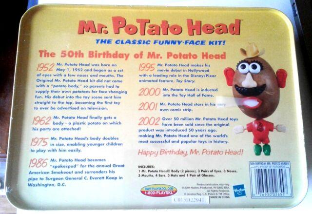 Potato Head 50th Anniversary Dollhouse EMPTY TOY BOX Miniature 1:12 scale Mr