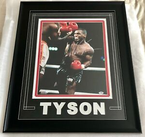 MIKE-TYSON-SIGNED-16x20-PHOTO-CUSTOM-FRAMED-PSA-DNA-AUTHENTICATED-AUTO-BOXING