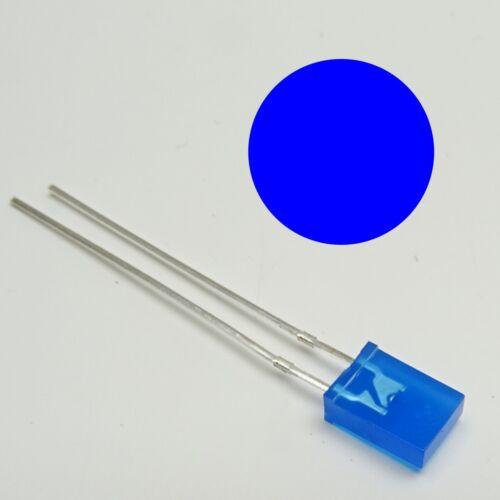 LED RETTANGOLARE BLU essere diffusa 2x5mm 1//10//25//50 numero di pezzi selezionabile 2x5x7mm c3361