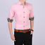 Business-Office-Work-Men-Casual-Stylish-Slim-Fit-Short-Sleeve-Shirt-Tops-Blouse thumbnail 3