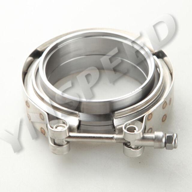 "2.5"" Self Aligning Male/Female V-Band Clamp CNC Mild Steel Flange Kit"
