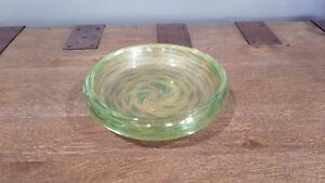 5a13526366ac Image is loading Vintage-Murano-Glass-Bowl-Gold-with-Green