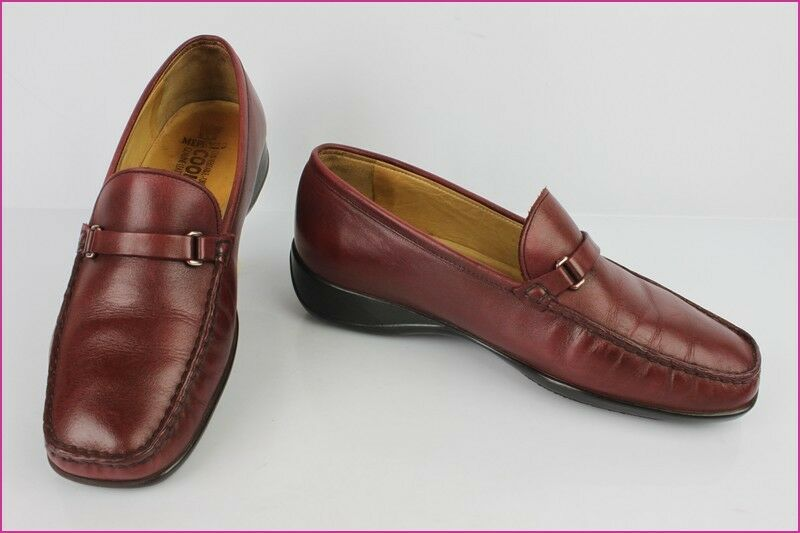 Mokassiner MEPHISTO Burgund Leder UK 5 / US 7,5 / de 38 BE