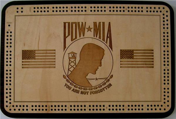 POW MIA  Cribbage Board